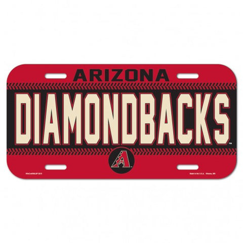 Arizona Diamondbacks Plastic License Plate