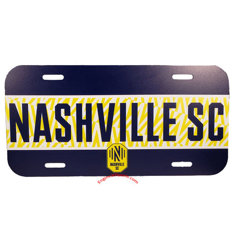 Nashville SC Plastic License Plate