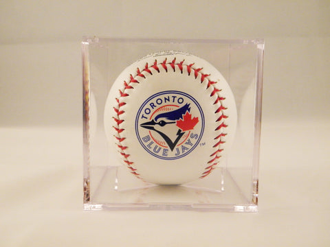 Toronto Blue Jays Logo Baseball In UV Protected Ball Holder