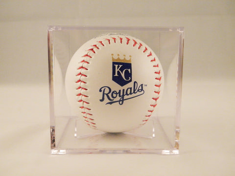 Kansas City Royals Logo Baseball In UV Protected Ball Holder