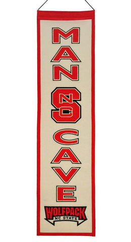 "North Carolina State Wolfpack 8""x32"" Wool Man Cave Banner"