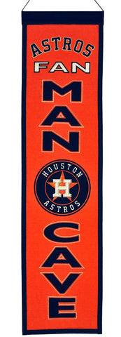 "Houston Astros 8""x32"" Wool Man Cave Banner"