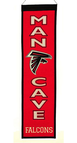 "Atlanta Falcons 8""x32"" Wool Man Cave Banner"