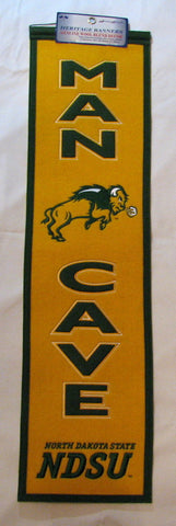 "North Dakota State Bison 8""x32"" Wool Man Cave Banner"