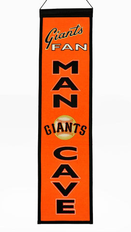 "San Francisco Giants 8""x32"" Wool Man Cave Banner"