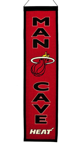 "Miami Heat 8""x32"" Wool Man Cave Banner"
