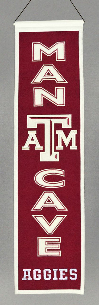 "Texas A&M Aggies 8""x32"" Wool Man Cave Banner"