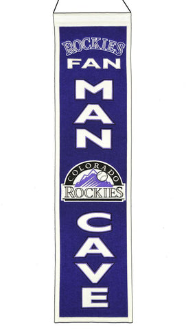 "Colorado Rockies 8""x32"" Wool Man Cave Banner"