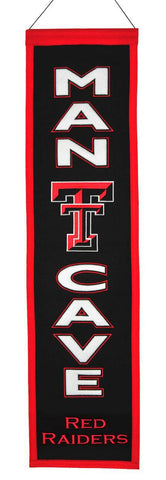 "Texas Tech Red Raiders 8""x32"" Wool Man Cave Banner"
