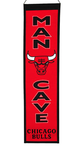 "Chicago Bulls 8""x32"" Wool Man Cave Banner"