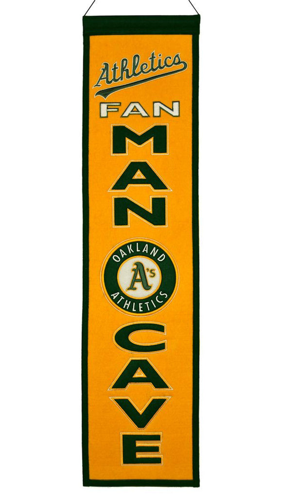 "Oakland A's 8""x32"" Wool Man Cave Banner"