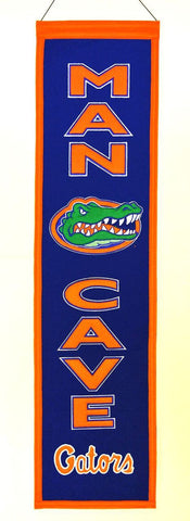 "Florida Gators 8""x32"" Wool Man Cave Banner"