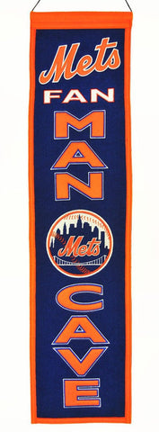 "New York Mets 8""x32"" Wool Man Cave Banner"