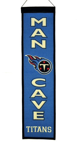 "Tennessee Titans 8""x32"" Wool Man Cave Banner"