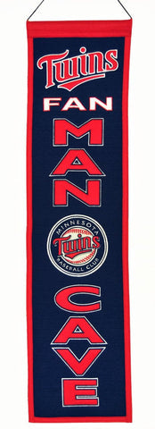 "Minnesota Twins 8""x32"" Wool Man Cave Banner"