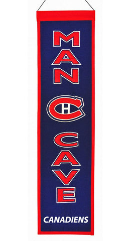 "Montreal Canadiens 8""x32"" Wool Man Cave Banner"
