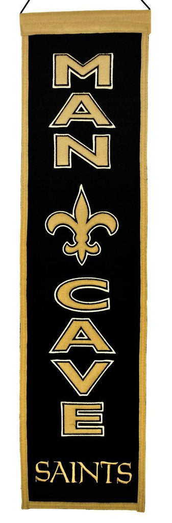 "New Orleans Saints 8""x32"" Wool Man Cave Banner"