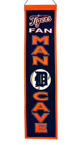 "Detroit Tigers 8""x32"" Wool Man Cave Banner"