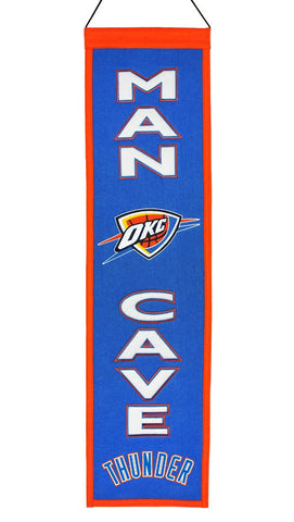 "Oklahoma City Thunder 8""x32"" Wool Man Cave Banner"