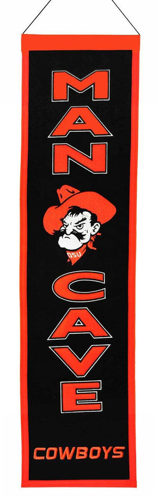 "Oklahoma State Cowboys 8""x32"" Wool Man Cave Banner"