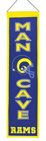 "Los Angeles Rams 8""x32"" Wool Man Cave Banner"