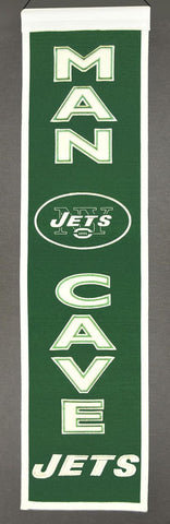 "New York Jets 8""x32"" Wool Man Cave Banner"