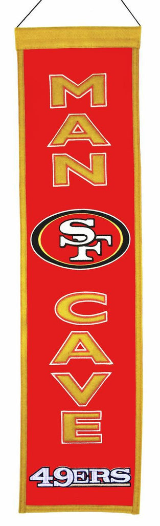 "San Francisco 49ers 8""x32"" Wool Man Cave Banner"