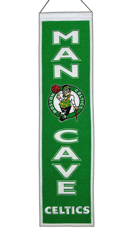 "Boston Celtics 8""x32"" Wool Man Cave Banner"