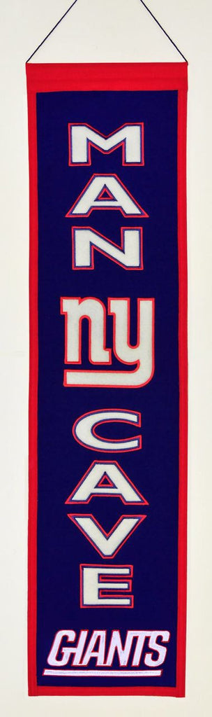 "New York Giants 8""x32"" Wool Man Cave Banner"