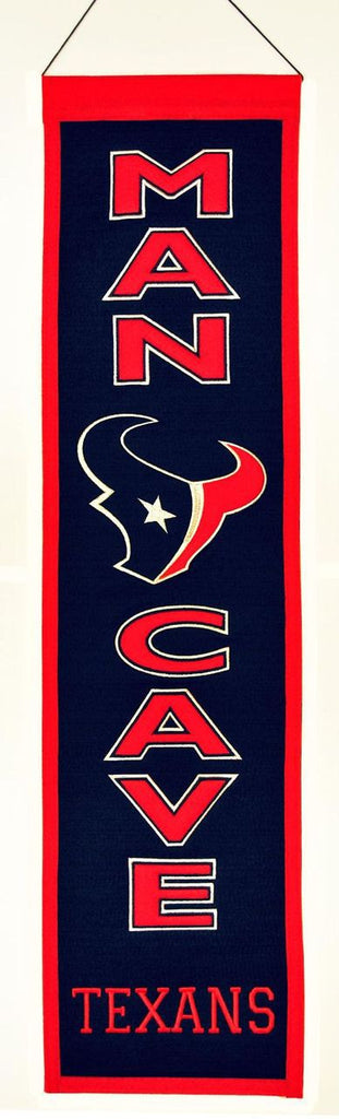 "Houston Texans 8""x32"" Wool Man Cave Banner"