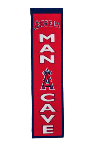 "Los Angeles Angels 8""x32"" Wool Man Cave Banner"