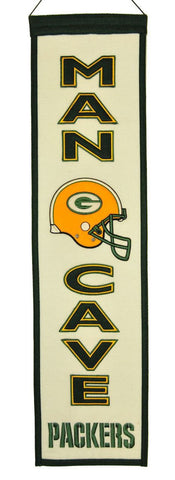 "Green Bay Packers 8""x32"" Wool Man Cave Banner"