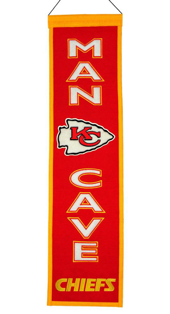 "Kansas City Chiefs 8""x32"" Wool Man Cave Banner"