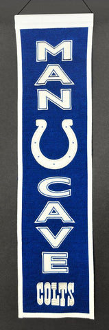 "Indianapolis Colts 8""x32"" Wool Man Cave Banner"