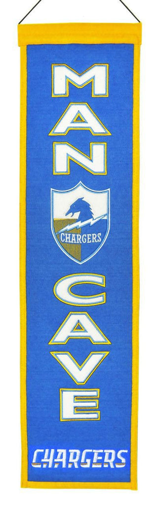 "Los Angeles Chargers 8""x32"" Wool Man Cave Banner"