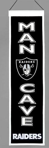"Oakland Raiders 8""x32"" Wool Man Cave Banner"