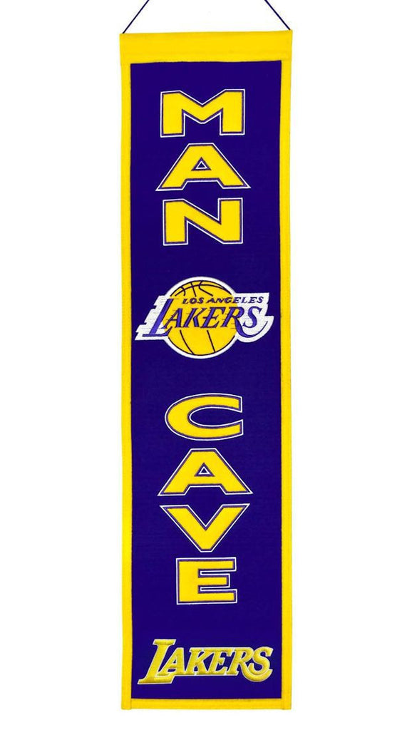 "Los Angeles Lakers 8""x32"" Wool Man Cave Banner"