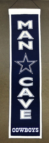 "Dallas Cowboys 8""x32"" Wool Man Cave Banner"