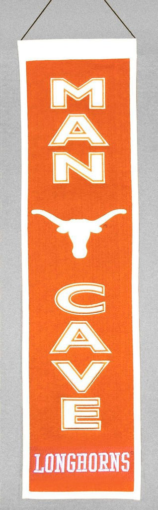 "Texas Longhorns 8""x32"" Wool Man Cave Banner"
