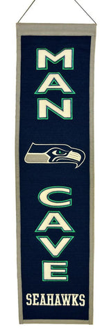 "Seattle Seahawks 8""x32"" Wool Man Cave Banner"