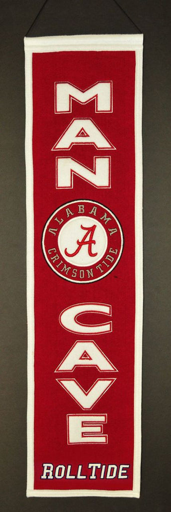 "Alabama Crimson Tide 8""x32"" Wool Man Cave Banner"