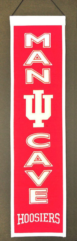 "Indiana Hoosiers 8""x32"" Wool Man Cave Banner"