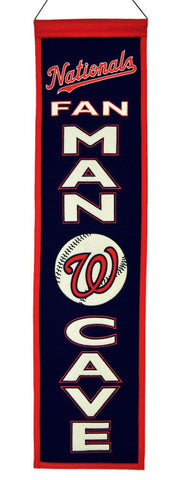 "Washington Nationals 8""x32"" Wool Man Cave Banner"