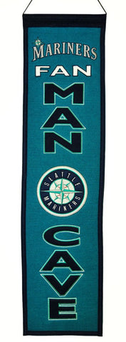 "Seattle Mariners 8""x32"" Wool Man Cave Banner"