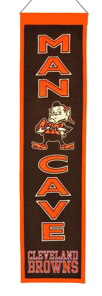 "Cleveland Browns 8""x32"" Wool Man Cave Banner"