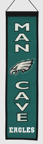 "Philadelphia Eagles 8""x32"" Wool Man Cave Banner"