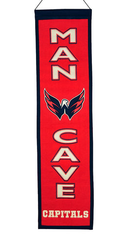 "Washington Capitals 8""x32"" Wool Man Cave Banner"
