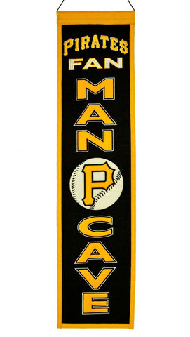 "Pittsburgh Pirates 8""x32"" Wool Man Cave Banner"