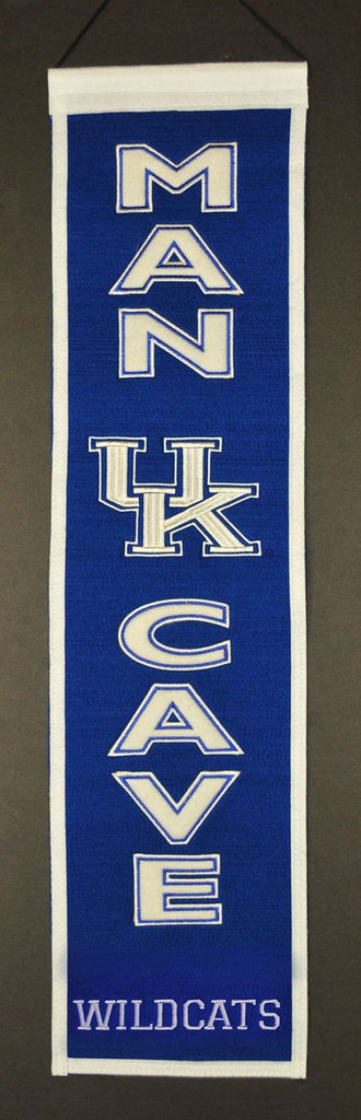 "Kentucky Wildcats 8""x32"" Wool Man Cave Banner"