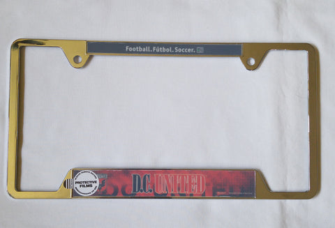 "D.C. United 6""x12"" Metal License Plate Frame"